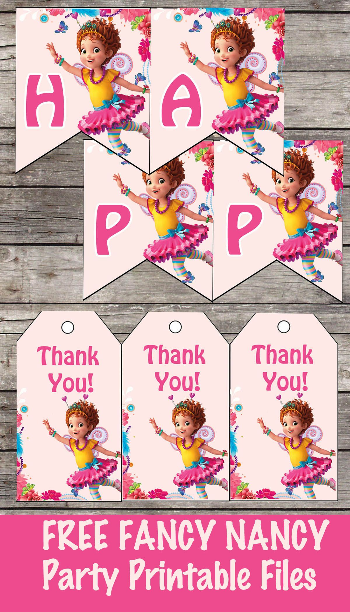 Free Fancy Nancy Birthday Party Printable Files Banner