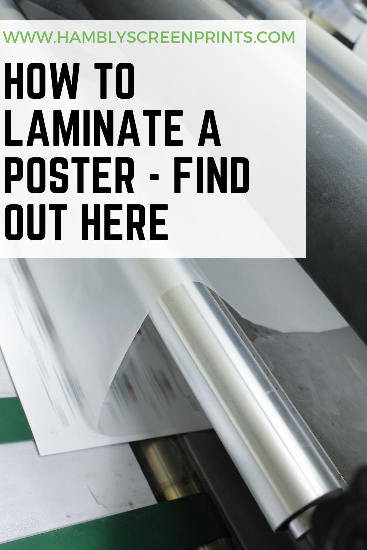 How To Laminate A Poster Find Out Here Laminating Paper Posters Diy Laminate