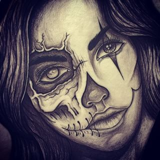 clown woman drawing - Google Search | mind blowing photos ...