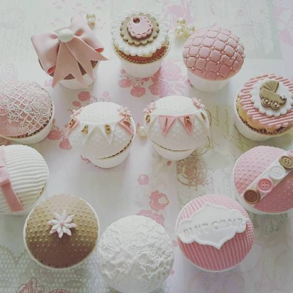 Baby Shower Cupcakes For A Baby Girl Classic Cupcakes Pinterest