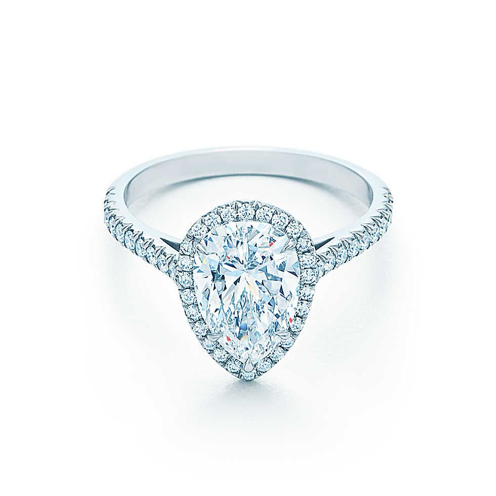 Pear Shaped Diamond Engagement Rings  Tiffany