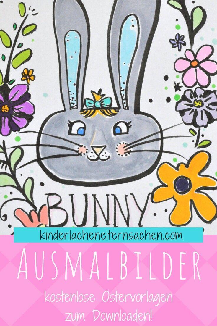 DIY Idee mit Kids für Ostern. Ausmalbilder in A5 ausdrucken und als ...