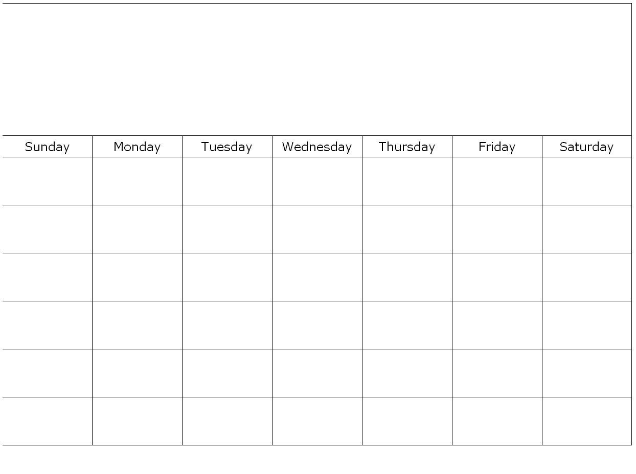 One Page Monthly Calendar Template Meal Plan Monthly Calendar