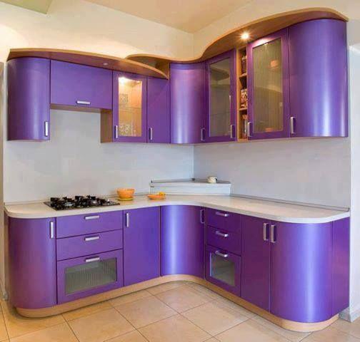 Cocina moderna en color lila me encanta cocinas violetas - Cocina color lila ...
