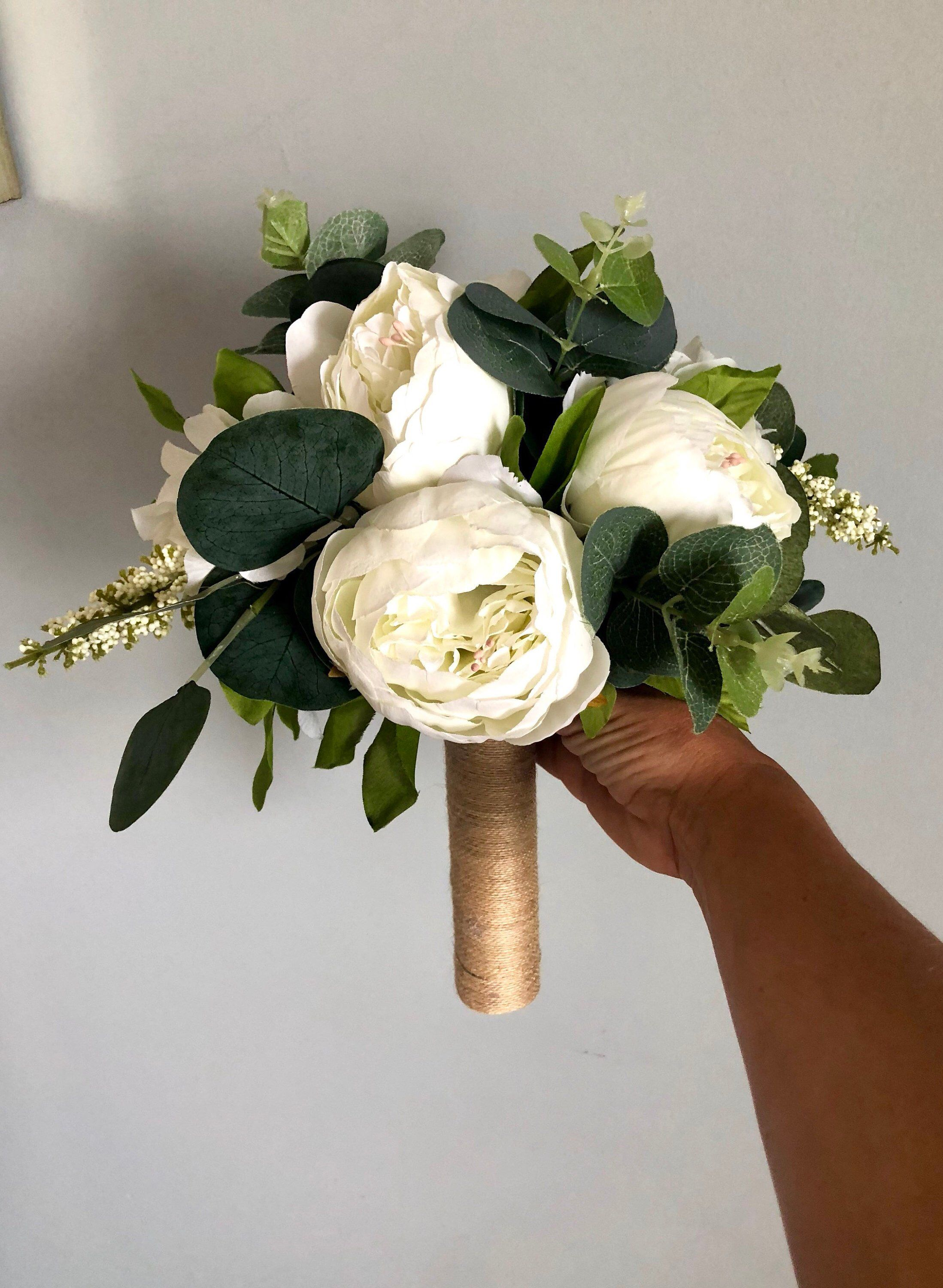 Customize Your Package White Peony Bouquet White Peony