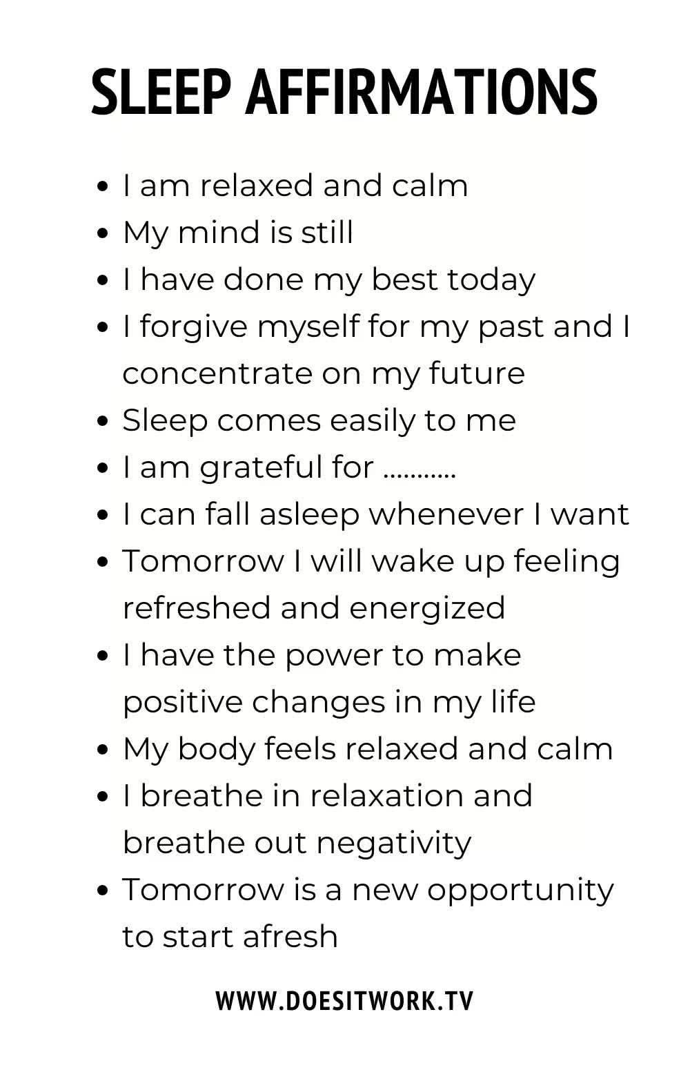 30 Sleep Affirmations for a Zen Night's Sleep