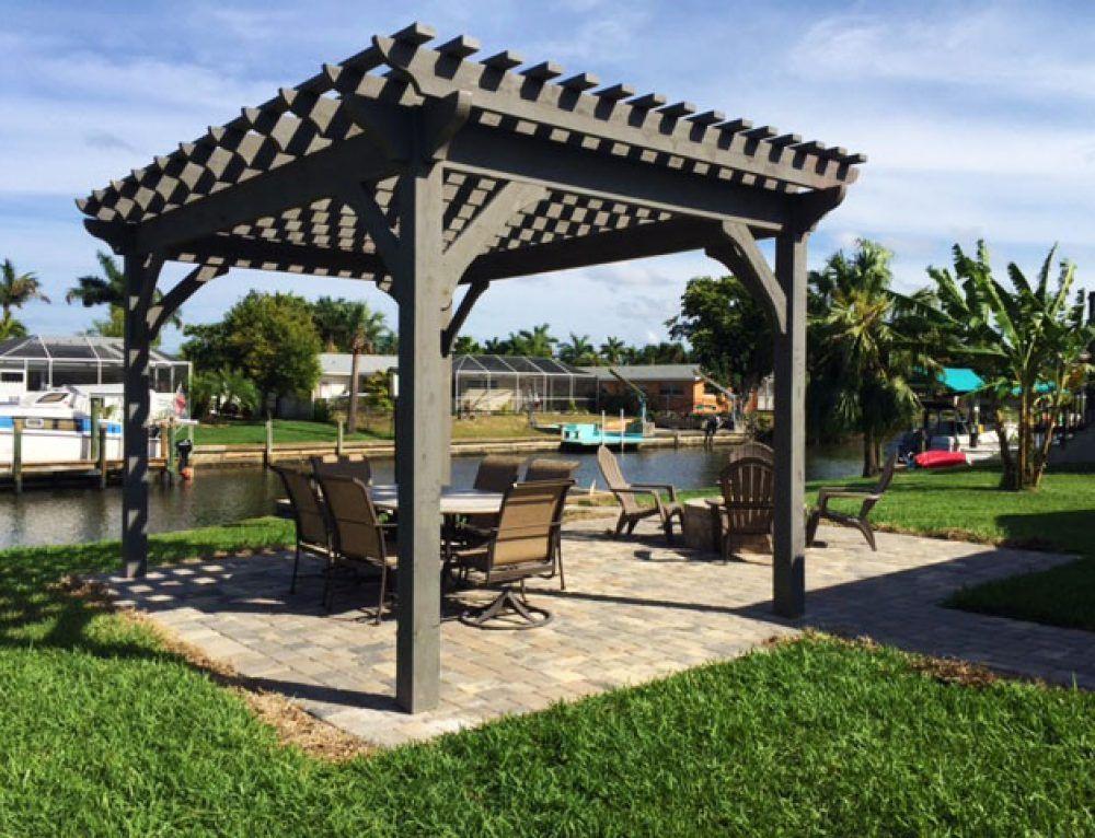 1 Afternoon 2 Florida Men Install Cedar DIY Pergola Kit - Easily Build A Fast DIY Beautiful Backyard Shade Structure Diy