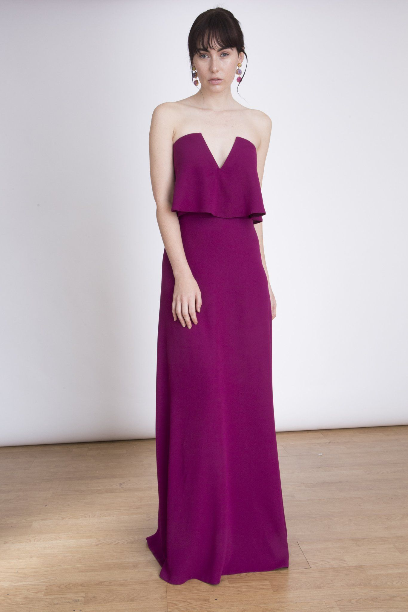 The Amelie Maxi Dress - Strapless Maxi Dress with a ruffle detail ...