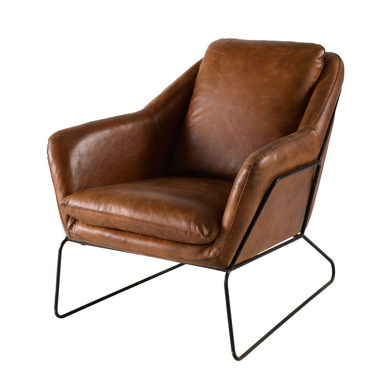La Maison Du Monde Poltrone.Poltrona In Pelle Marrone In 2019 Brown Leather Armchair