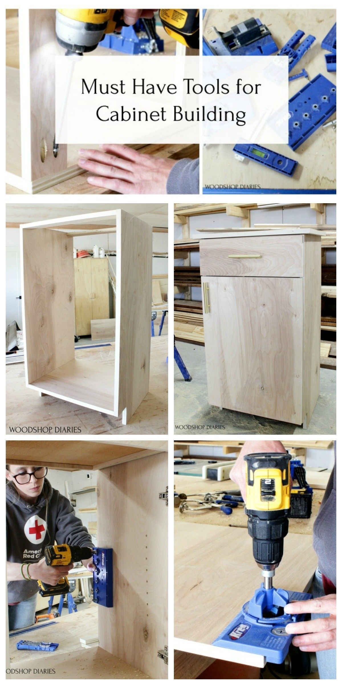Must Have Tools For Cabinet Making And Furniture Building In 2020 Wood Shop Projects Cabinet Making Wood Diy