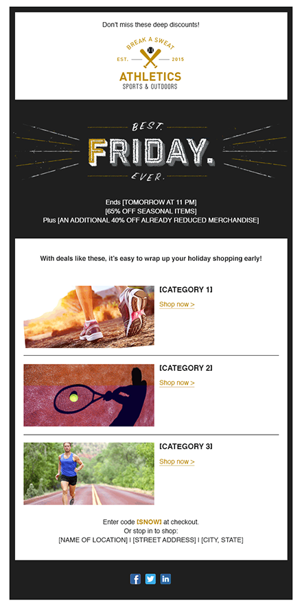 10 Holiday Email Templates For Small Businesses Nonprofits Email