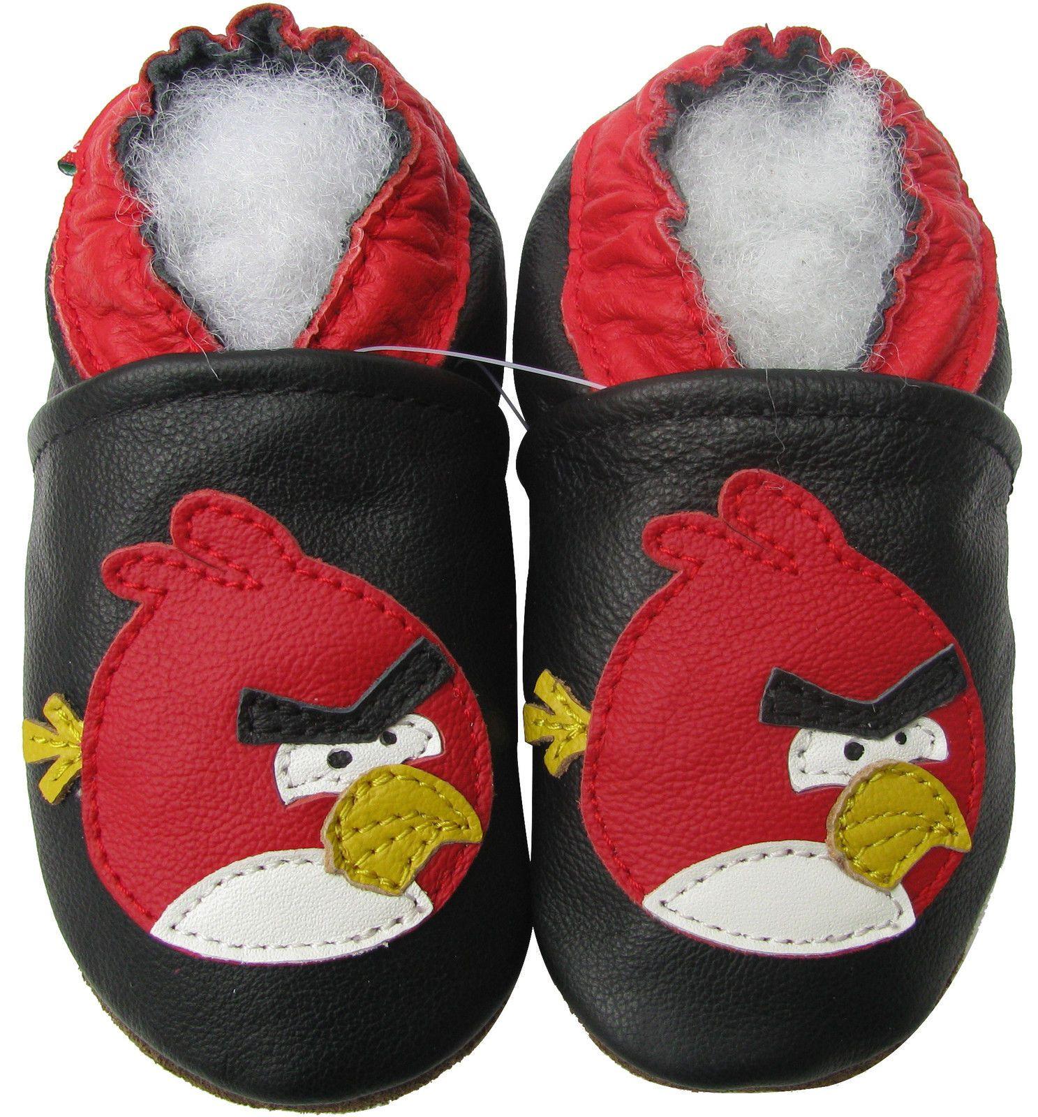 Carozoo Wolf Black Baby Boy Soft Sole Leather Shoes