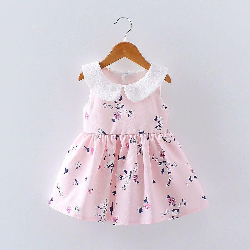 Toddler Infant Kids Baby Girls Floral Dress Princess Party Summer