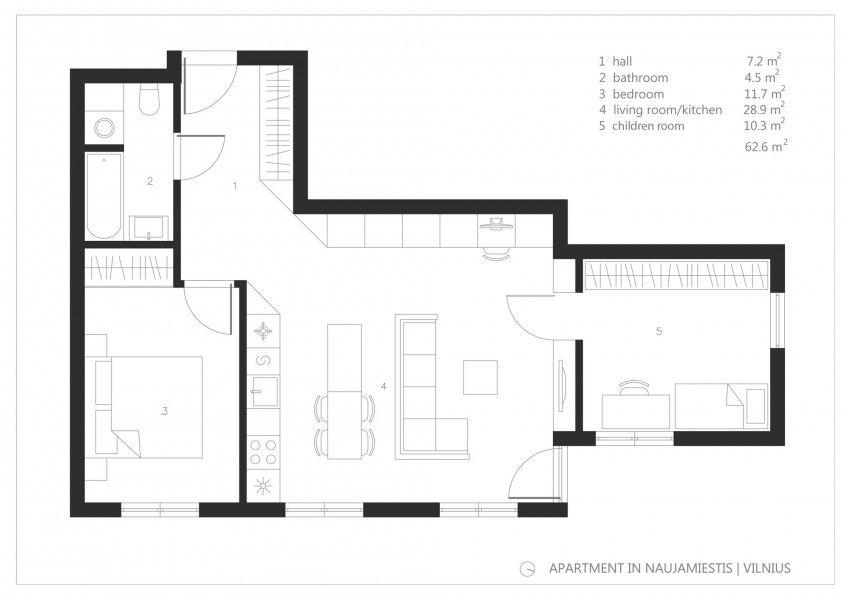 Apartment in Vilnius by Normundas Vilkas Apartments, Apartment