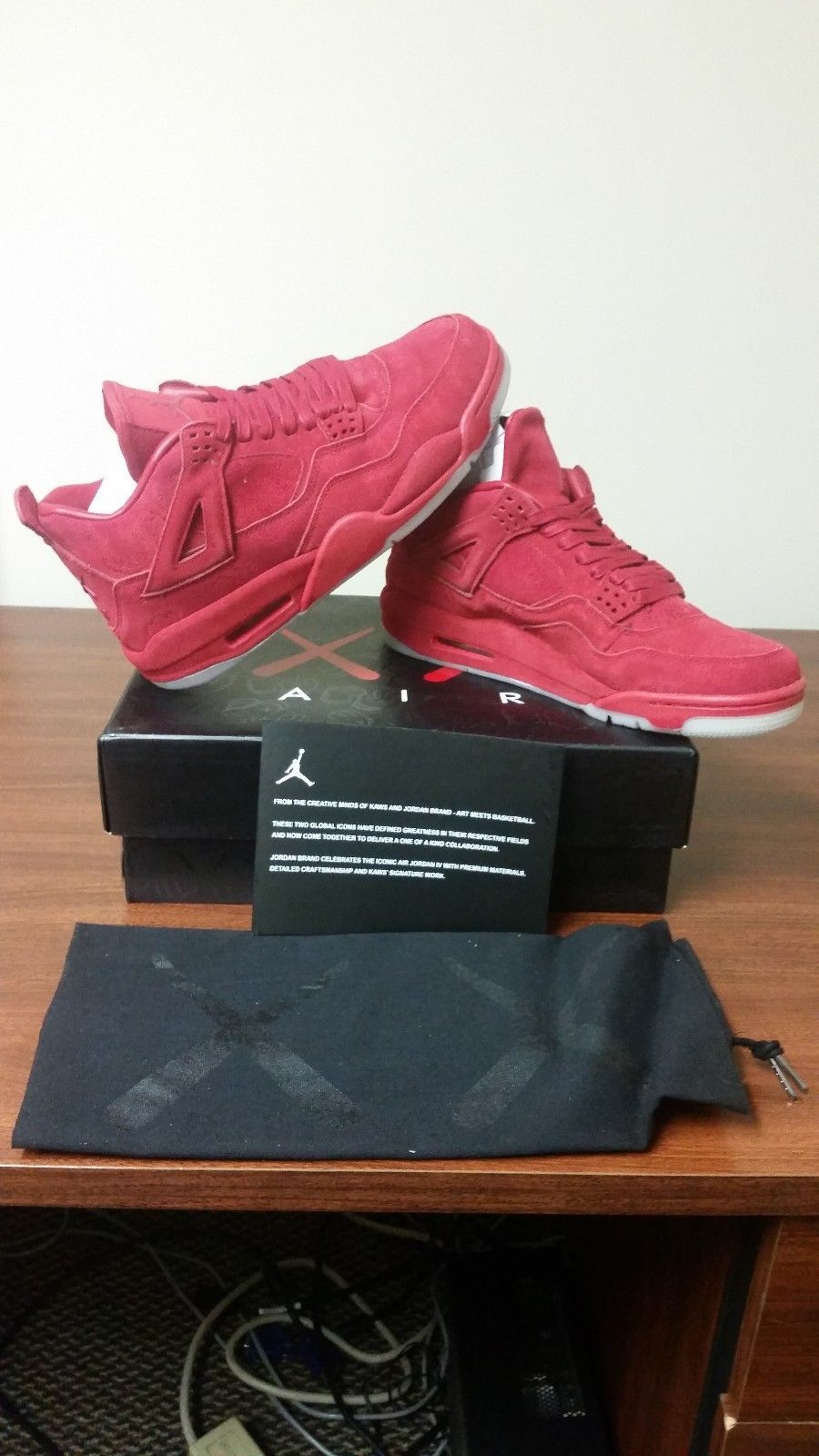 detailed look c3fb6 d7adf Air Jordan IV KAWS red size 11 brand new deadstock retro 4 OVO 100%  authentic
