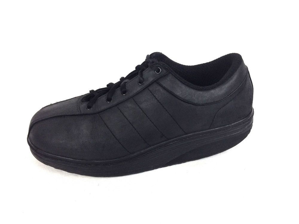 562f99c0d9cb MBT Shoes Black Leather Athletic Fitness Mens 12  MBT  Walking ...