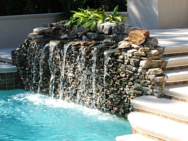 Swimming Pool Water Fountain Design Water Features In The Garden Fountains Backyard Garden Water Fountains