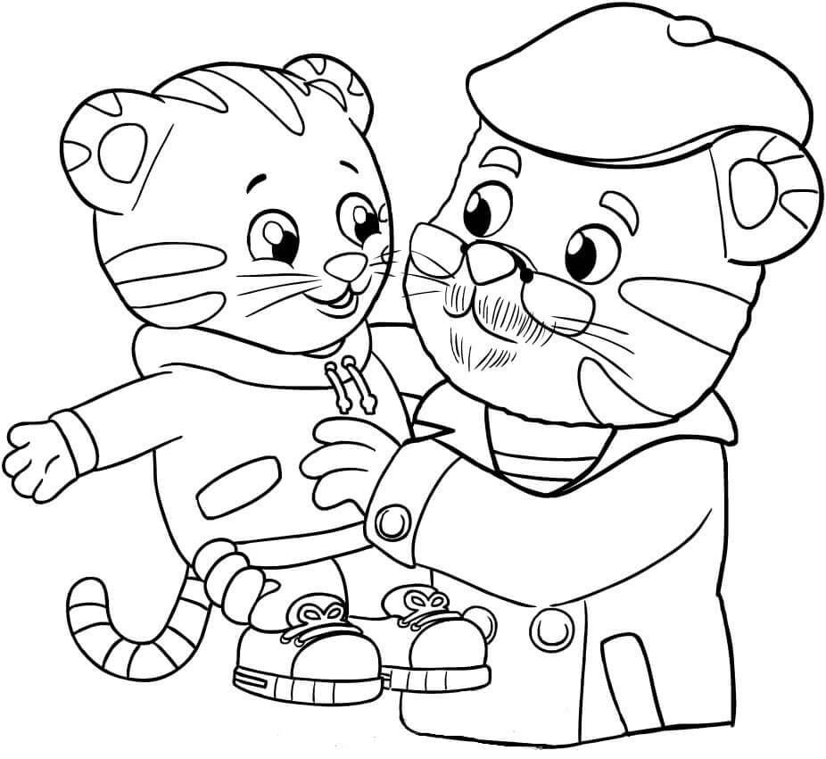 Daniel Tiger And Grandpa Coloring Page Daniel Tiger Daniel Tiger S Neighborhood Daniel Tiger Birthday