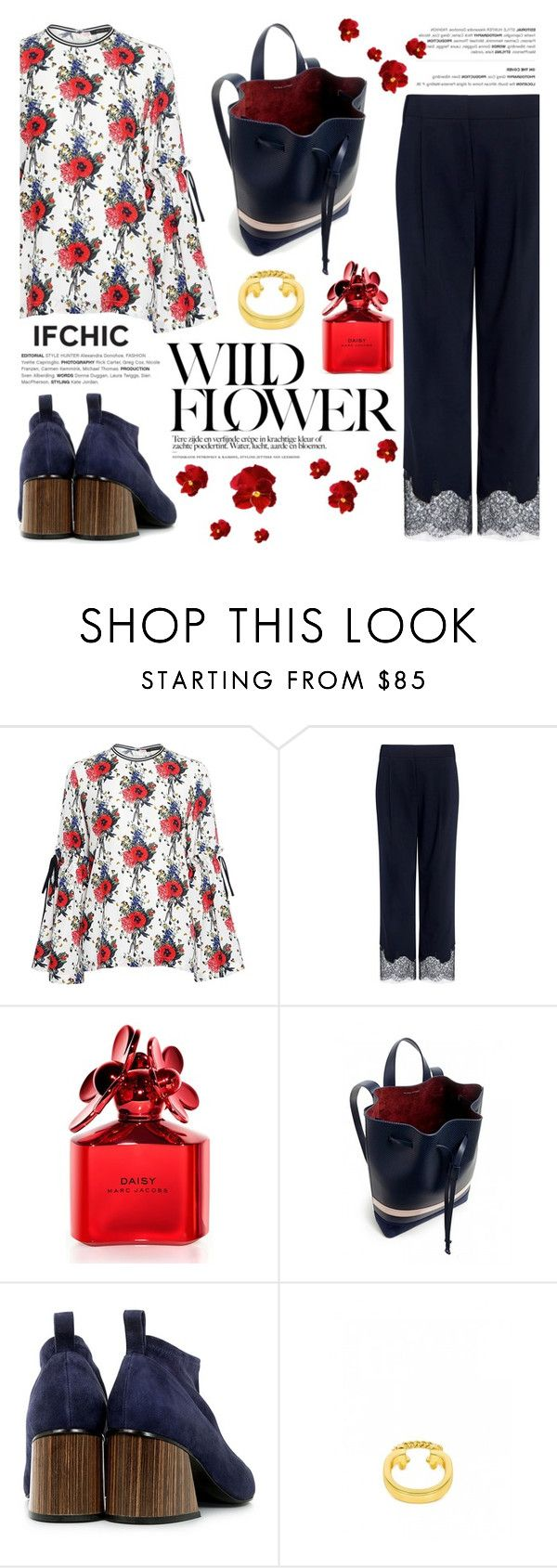 """""""Flower Power"""" by ifchic ❤ liked on Polyvore featuring Mother of Pearl, TIBI, Marc Jacobs, Eugenia Kim and Giles & Brother"""