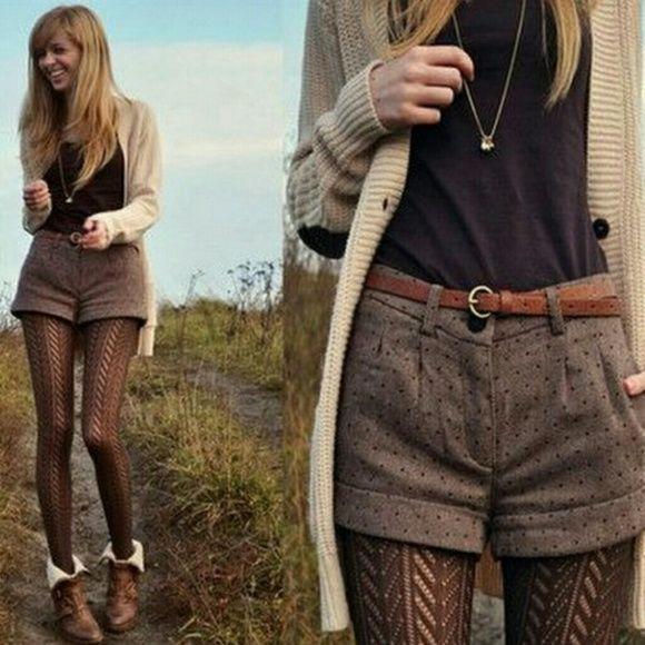 Brown Winter Cuffed Dress Shorts Schokoladenbraun mit einem Hauch von Glanz Fashion