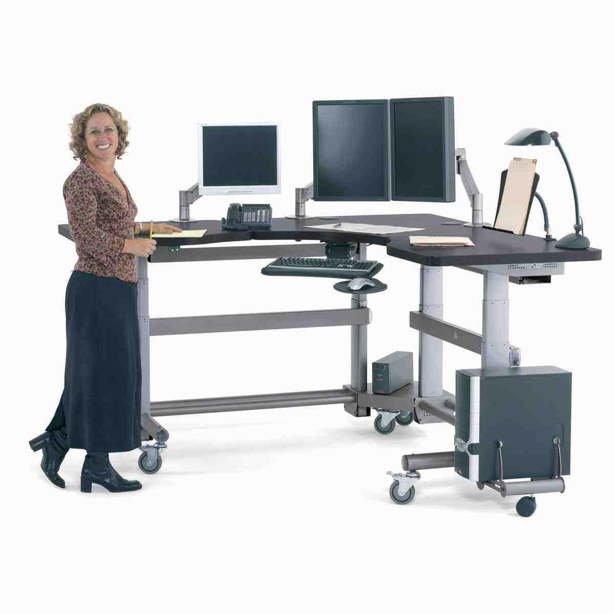 Corner Standing Desk, Desk, Corner Desk