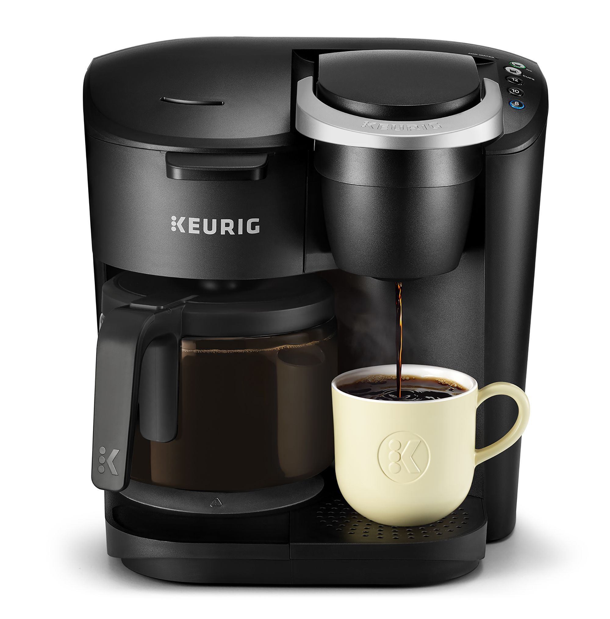 Keurig K Duo Essentials Coffee Maker With Single Serve K Cup Pod And 12 Cup Carafe Brewer Black Single Coffee Maker Keurig Coffee Makers Best Coffee Maker