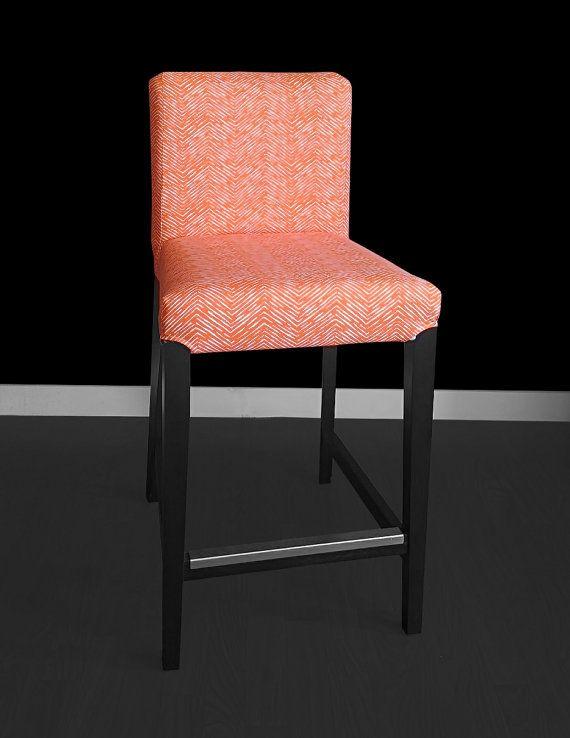 Ikea Orange Chair Covers Ergonomic Uk Henriksdal Bar Stool Cover Cameron Tangelo By Rockincushions