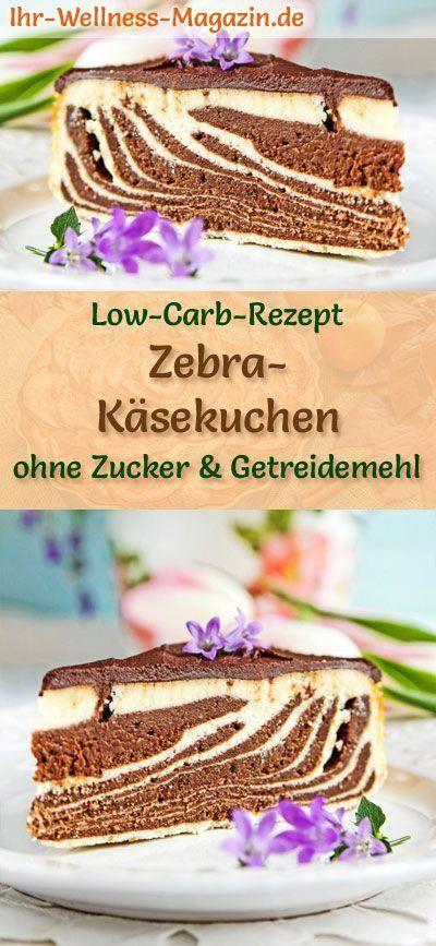 Low Carb Zebra Cheesecake Bottomless - Quarkcake recipe without sugar - -