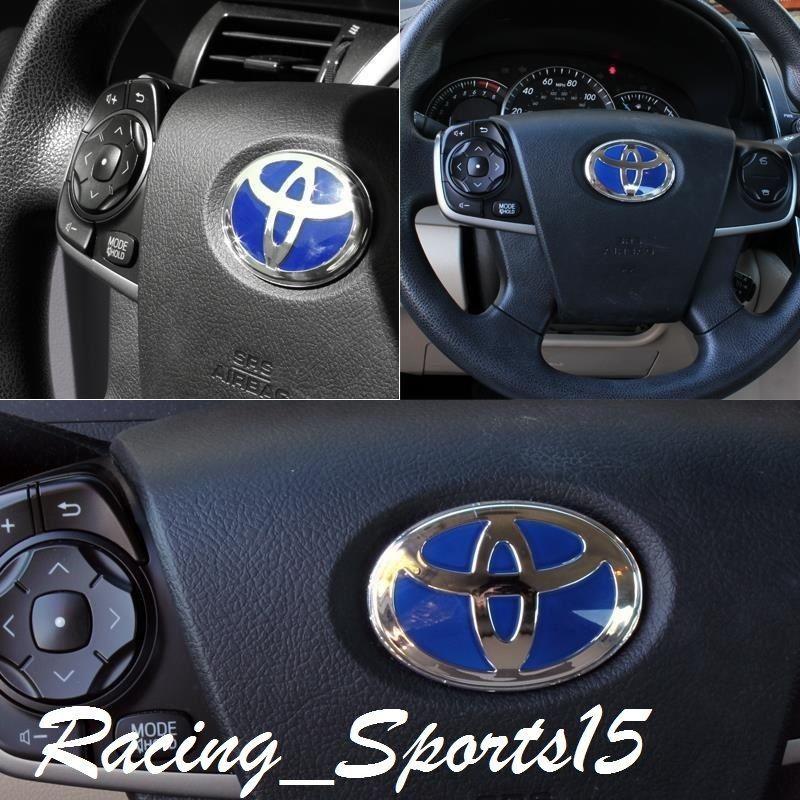 Toyota Blue Steering Wheel Emblem Badge For Camry Corolla Rav4
