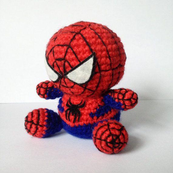 Free Spiderman Amigurumi Crochet Pattern : SPIDERMAN Amigurumi Pattern SuperHero Spider Marvel Easy ...