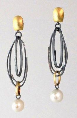 ER239 Long Scribble earrings | Sydney Lynch