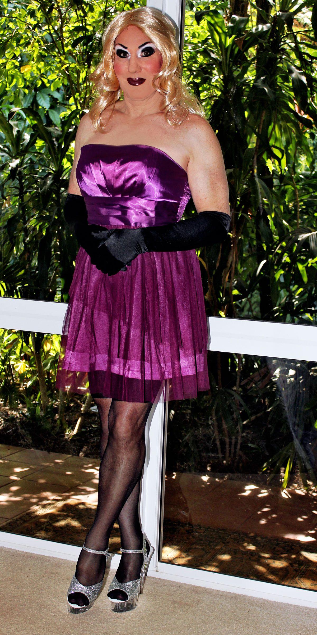 Chiffon transvestite wardrobe #11