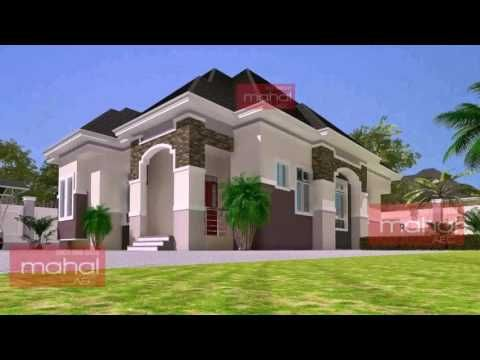 bedroom bungalow house design in nigeria youtube also pinoy is  one storey with floor rh pinterest