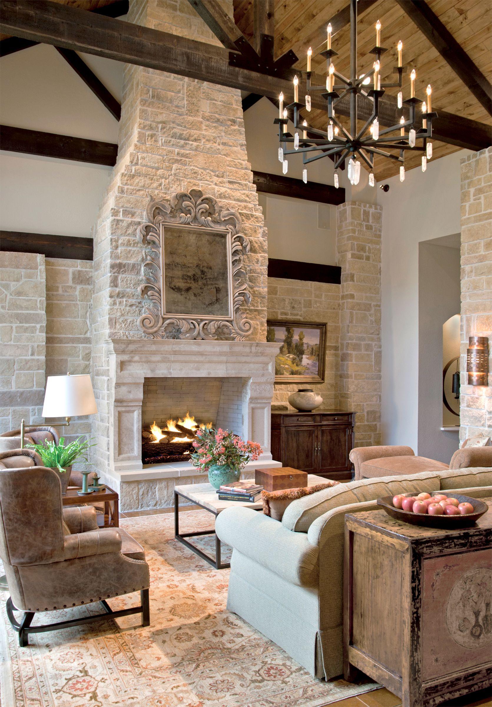 Living Room Design House Houston Tx. High Ceilings