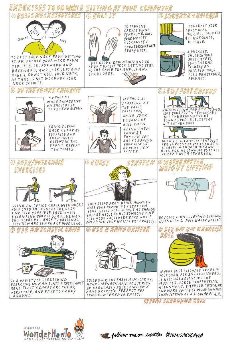 Stress Busting Exercises You Can Do At Your Desk