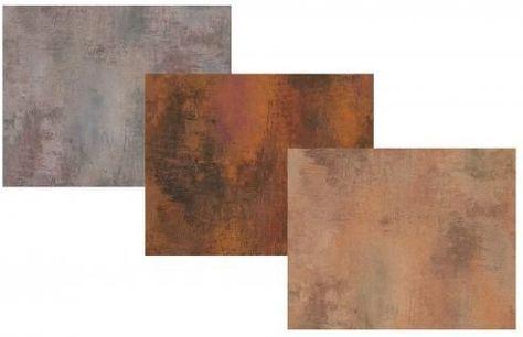 Kupfer Rost vlies tapete patina stein wand grau kupfer rost braun antik optik