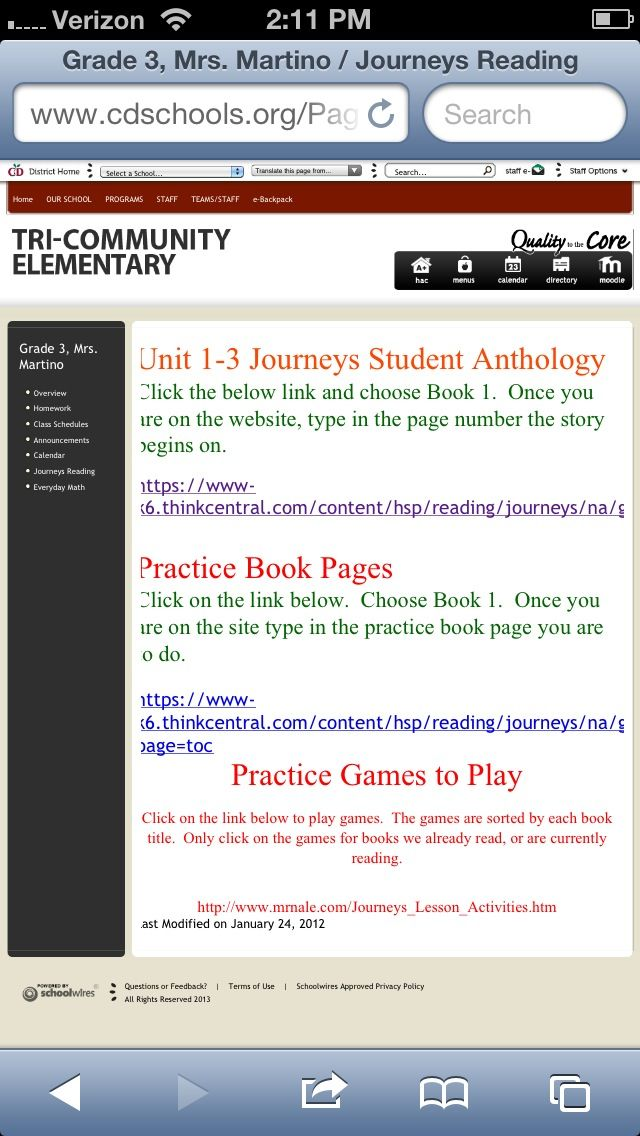 Journeys Reading Series 3rd Grade Online Version Of Student