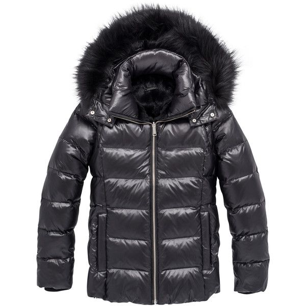 Andrew Marc AVERY - FOREST - X-LARGE (2.150 BRL) ❤ liked on Polyvore featuring outerwear, coats, black, down coats, down coat, cold weather coats, quilted coat, andrew marc and quilted down coat
