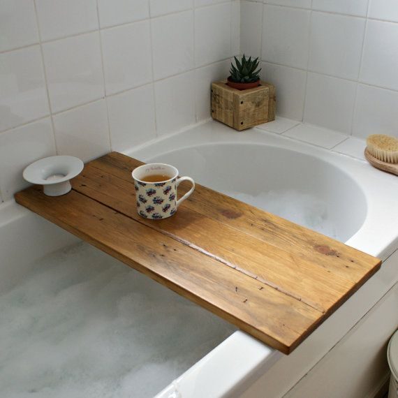 Bath tray reclaimed wood tray. bath caddy. bath by Pepperwoodandco ...