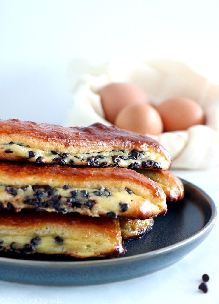 Chocolate Chip Vanilla Custard Brioches (Pains Suisses)   Recipe   Chocolate brioche, Food recipes,