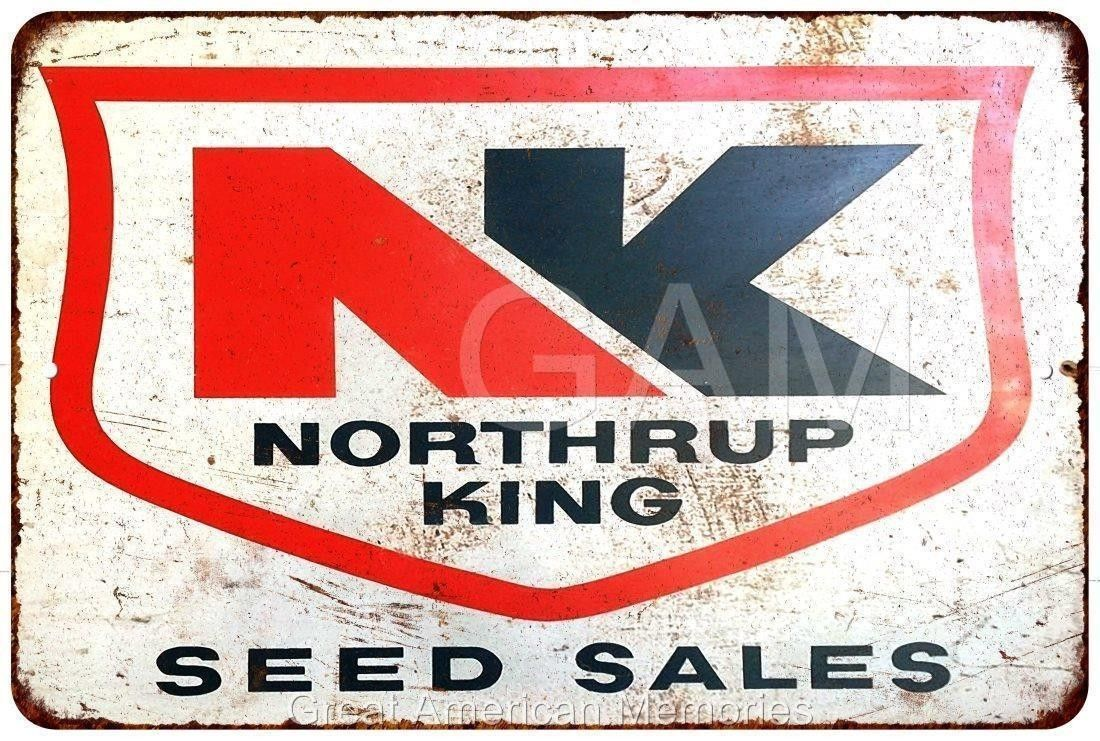 Northrup King Seed Sales (the precursor to NK Lawn and Garden) metal sign