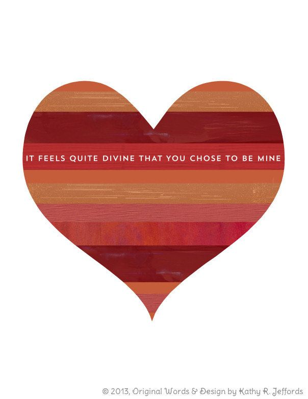 Heart Art Print Romantic Be Mine Love Quote Rustic Reds Burnt Awesome Quote On Valentine Day