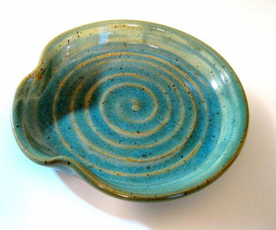 Ceramic Spoon Rest Spoon Rest Stoneware Spoon Rest Pottery Spoon Rest Wheel Thrown Spoon Rest