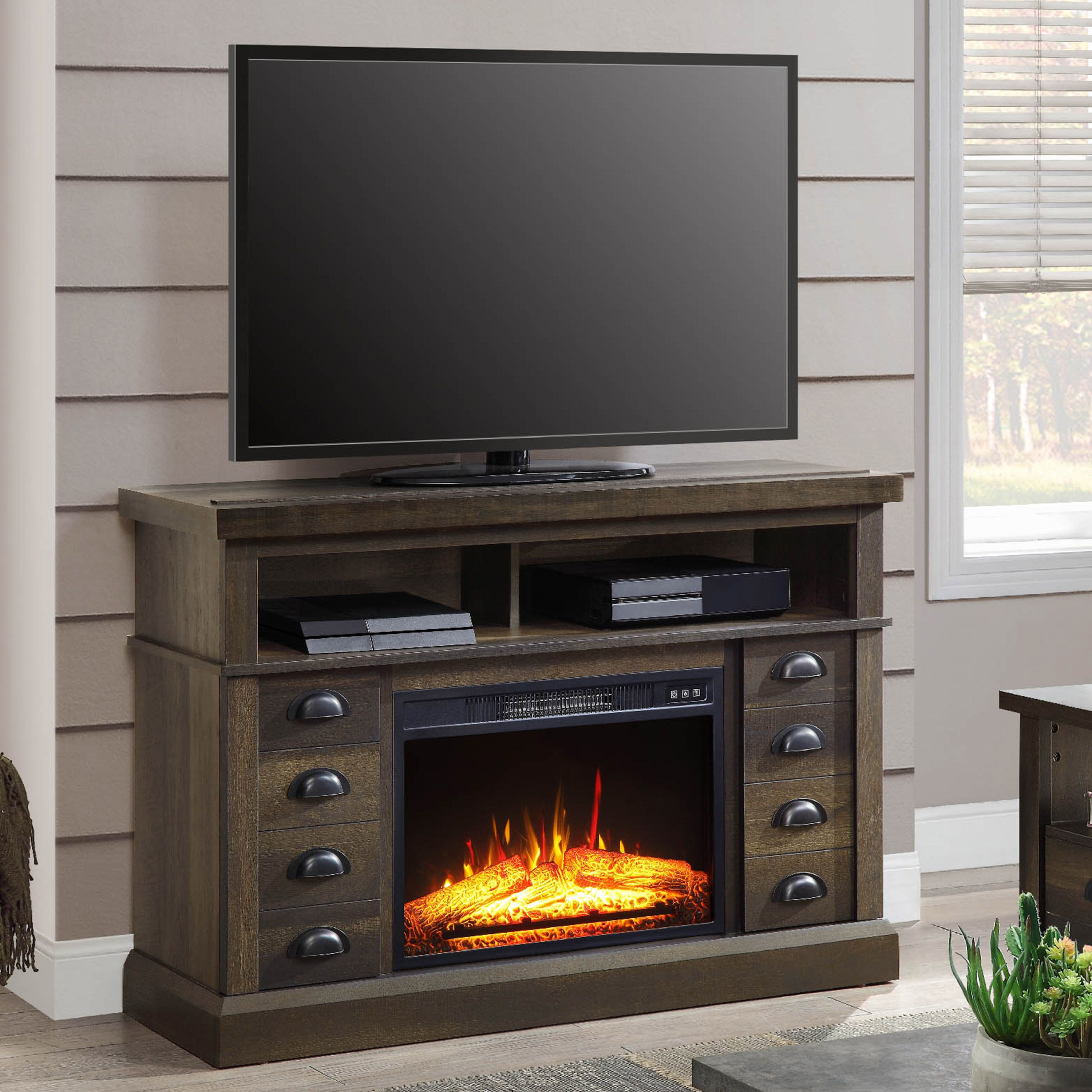 Home Fireplace tv stand, Fireplace console, Tv console