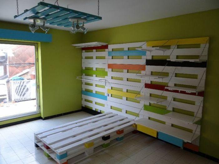 Möbel für kinderzimmer  europaletten bett möbel kinderzimmer komplett aus paletten ...