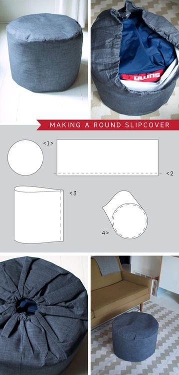 Bean Bag Slipcover From My Blog Bean Bag Round Stool