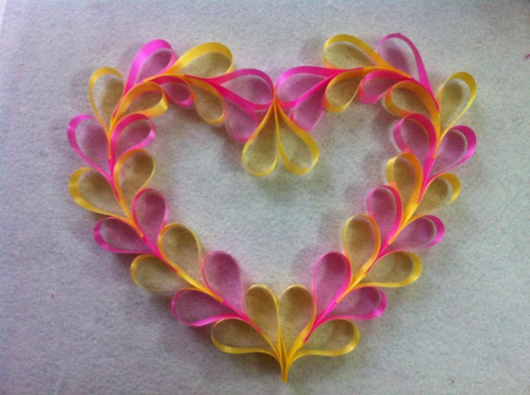 diy ribbon heart wreath