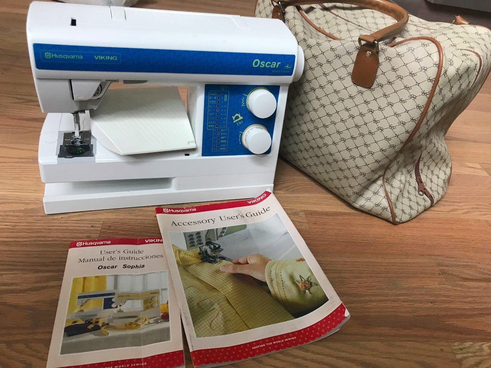 Husqvarna Viking OSCAR 130 Sewing Machine, Foot Pedal, Manuals -  Anniversary Set #vintagesewingmachines