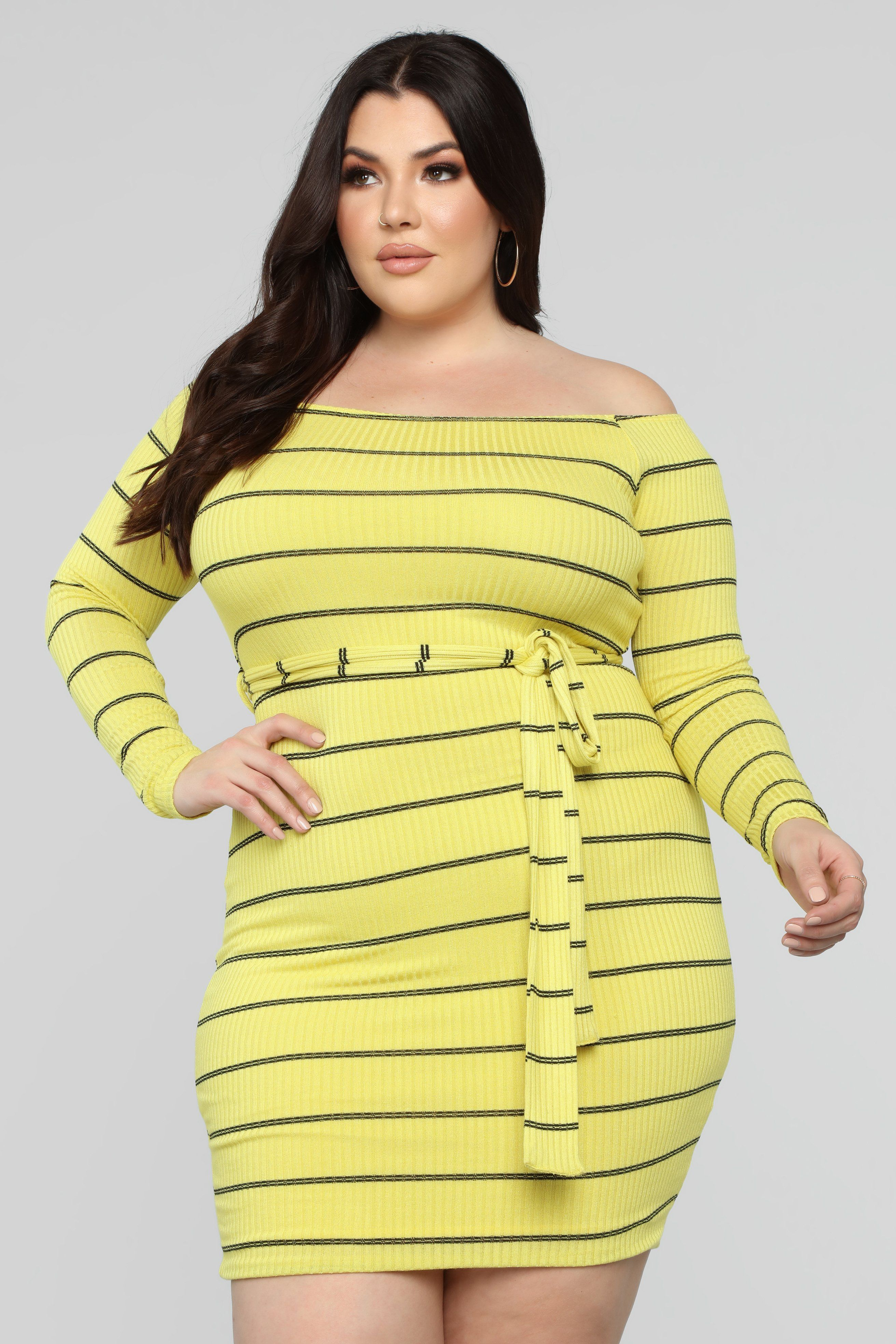 de63187c22 Have To Wait Off Shoulder Mini Dress - Yellow Lime in 2019 | Curvy ...