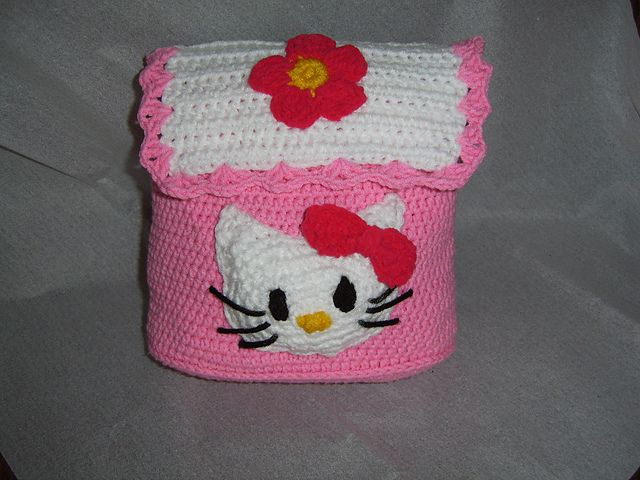 Ravelry: Hello Kitty Child\'s Backpack pattern by Crystal free ...